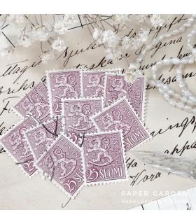Vintage Stamps - Finnish Pink 25 Bundle