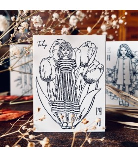 OHS - FLOWER GIRLS: Spring, Tulip Stamp