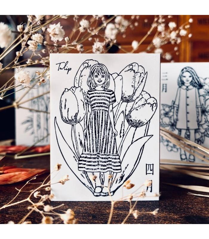 OHS - FLOWER GIRLS: Tulip Stamp