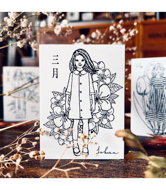OHS - FLOWER GIRLS: Sakura -leimasin