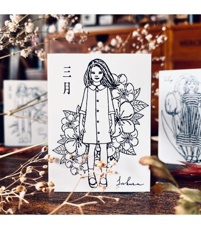 OHS - FLOWER GIRLS: Sakura Stamp