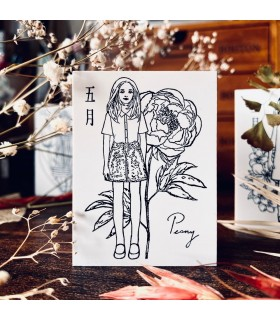 OHS - FLOWER GIRLS: Spring, Peony Stamp