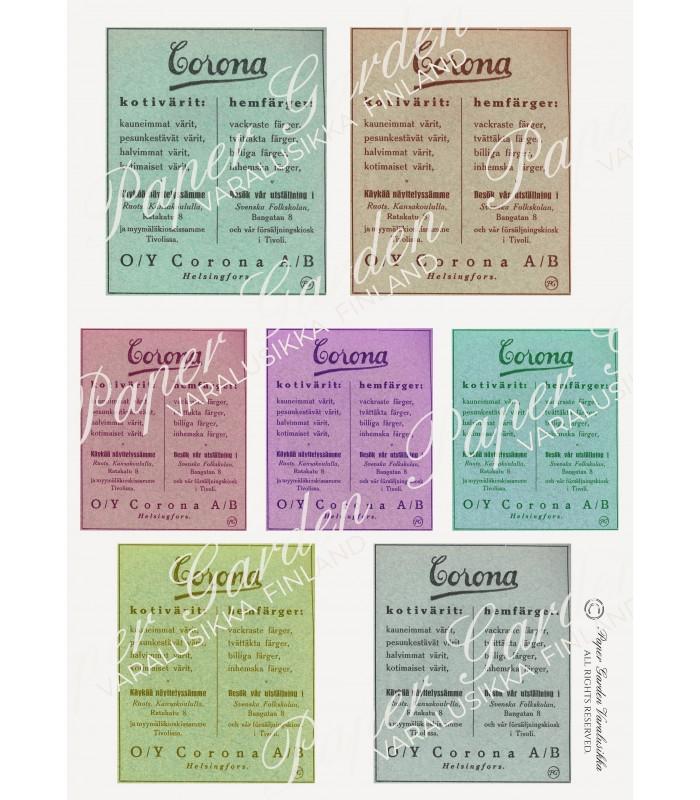 LAHJA! Digitaalinen Vintage Finnish Corona Ad PDF