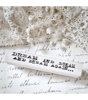 CLP Dream And Dream And Dream Again... Rubber Stamp