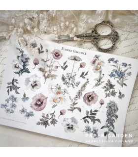 PG Flower Garden 1 Cut & Paste Sticker Sheet