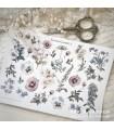 PG Flower Garden 1. Cut & Paste -tarra-arkki
