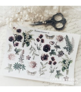 PG Flower Garden 2. Cut & Paste Sticker Sheet