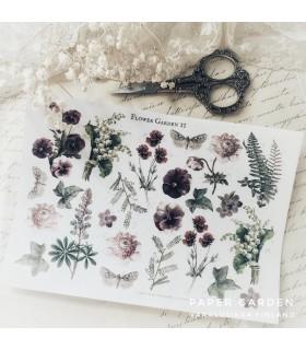PG Flower Garden 2. Cut & Paste -tarra-arkki