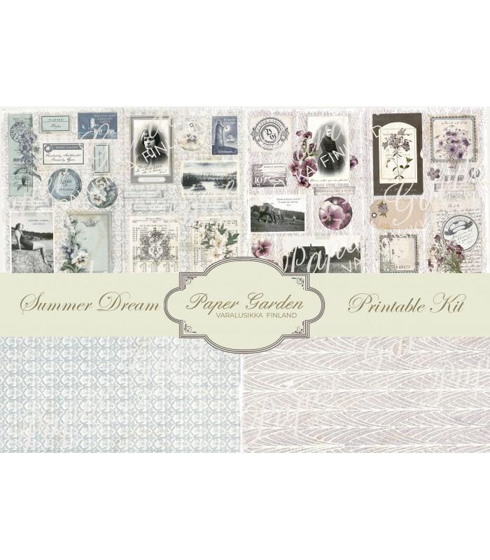 Tulostettava Summer Dream PDF Journaling Kit