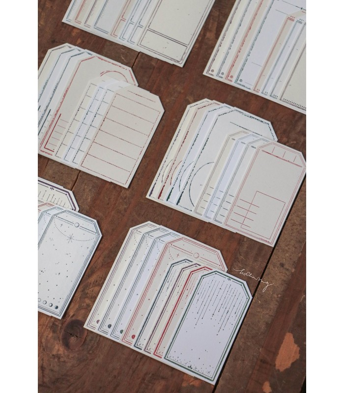 LCN - Letterpress Vintage tag set A.