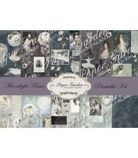 Tulostettava Moonlight Kisses PDF Journaling Kit