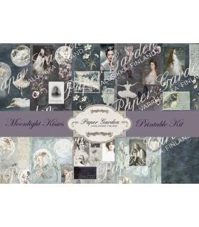 Tulostettava Moonlight Kisses PDF Journaling Kit
