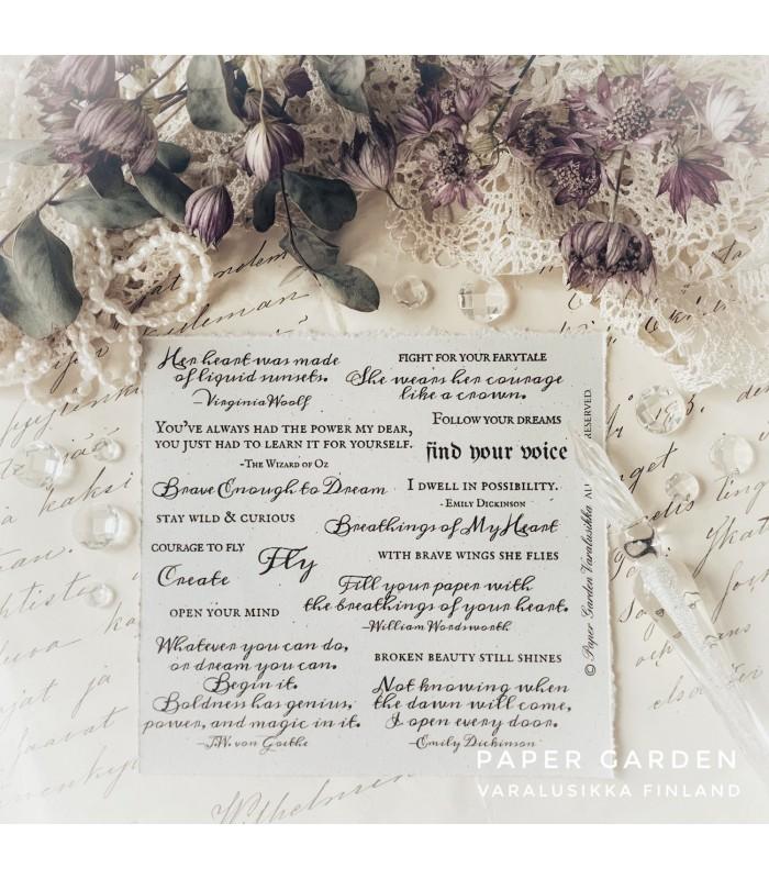 PG - Dream Quotes, Stamp Set 4.