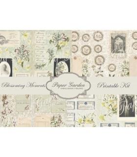 Tulostettava Blossoming Moments PDF Journaling Kit