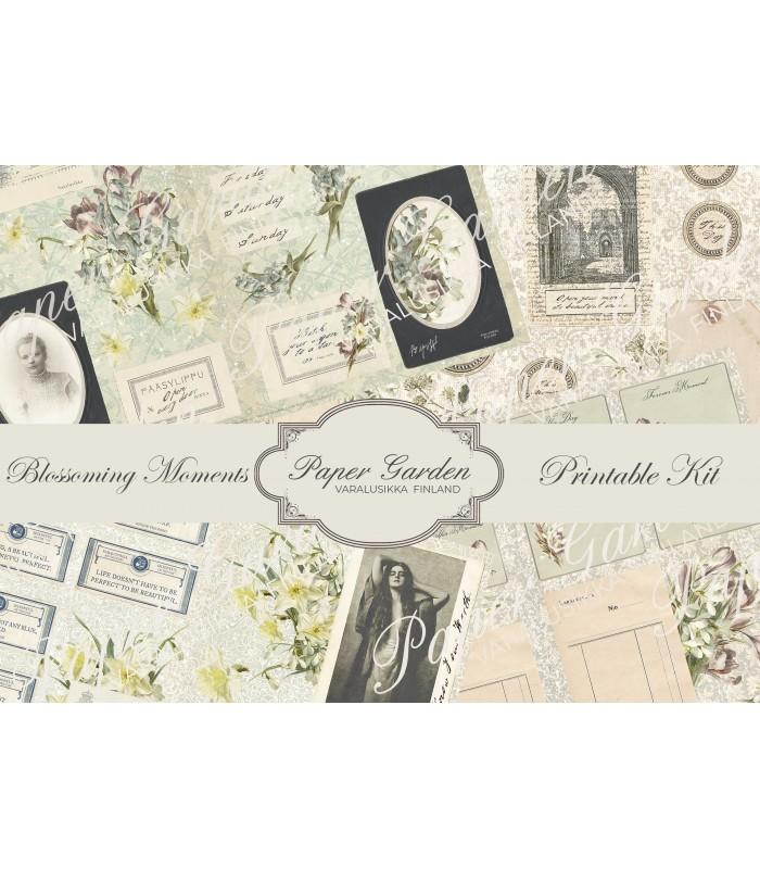 Digital Blossoming Moments PDF Journaling Kit