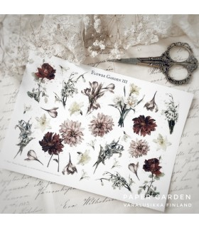 PG Flower Garden 3. Cut & Paste Sticker Sheet