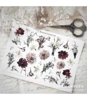 PG Flower Garden 3. Cut & Paste -tarra-arkki