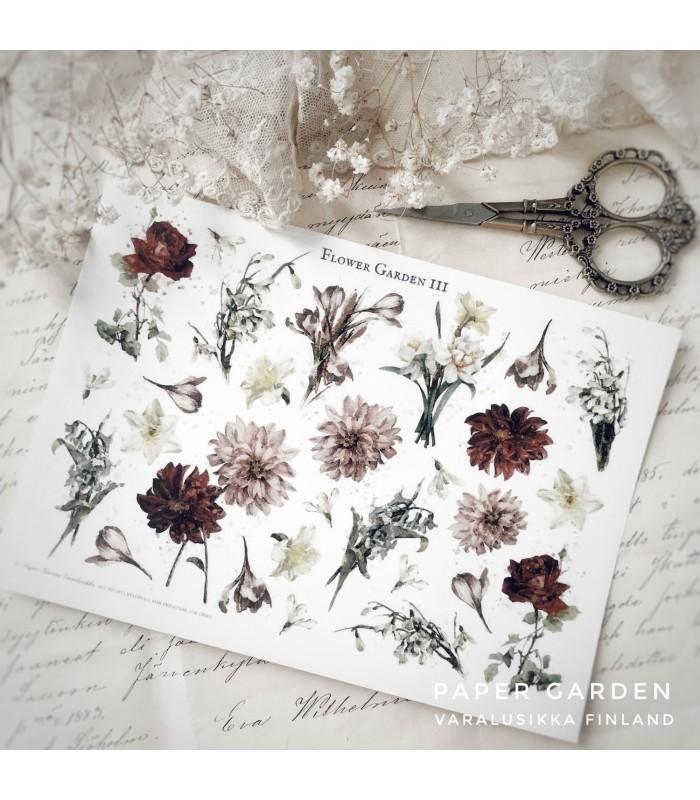 PG Flower Garden 3. Cut & Paste Sticker Sheet
