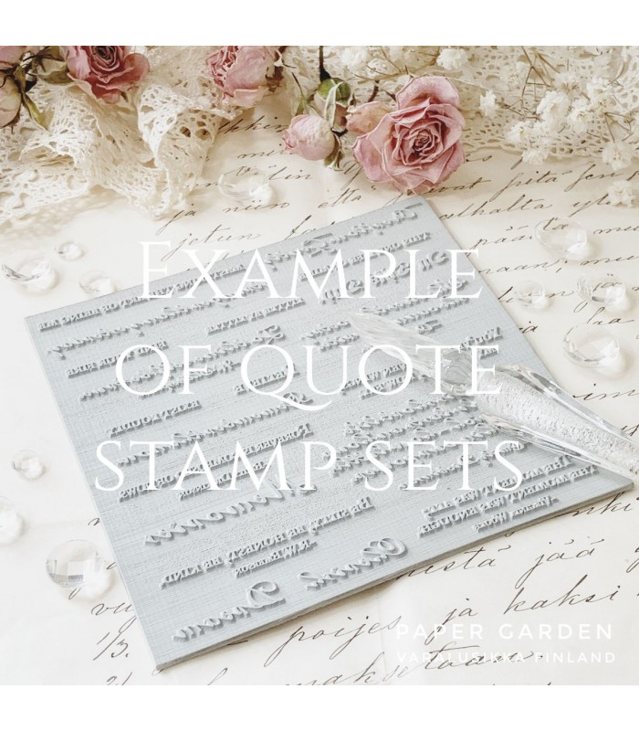 PG - With Everlasting Love, Bible Journaling Quote Stamp Set 2.