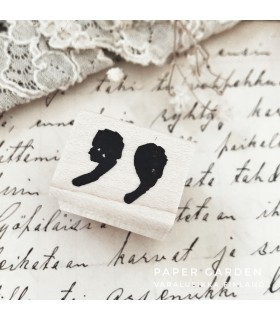 CLP Quotation Mark Rubber Stamp