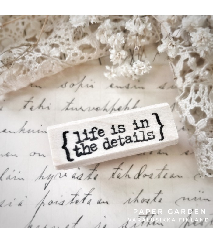 CLP Life is in the details Rubber Stamp