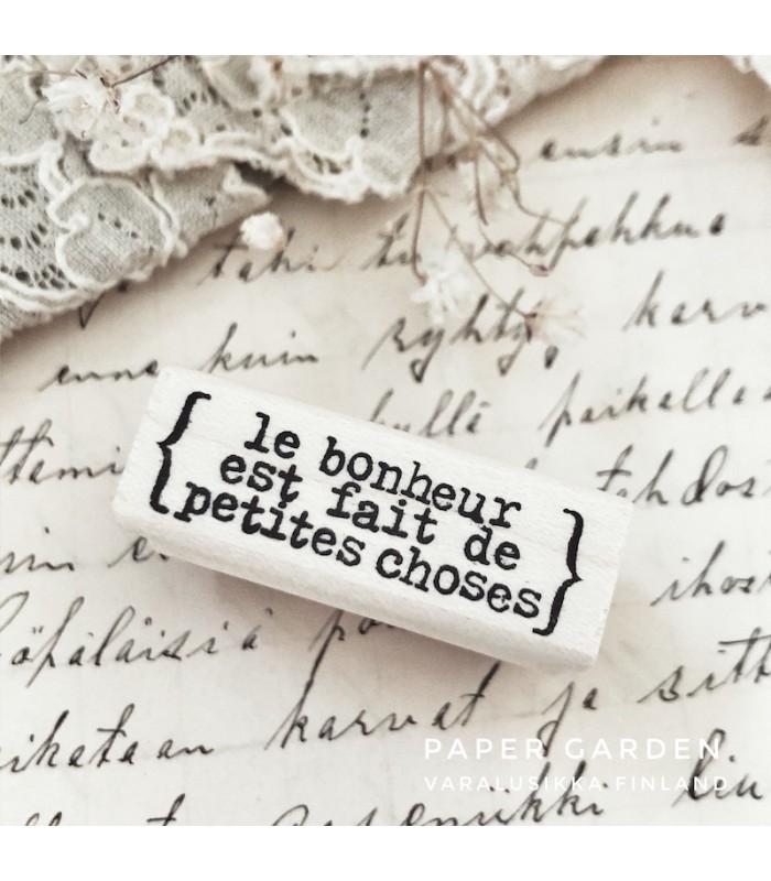 CLP Le bonheur est fait de petites choses leimasin