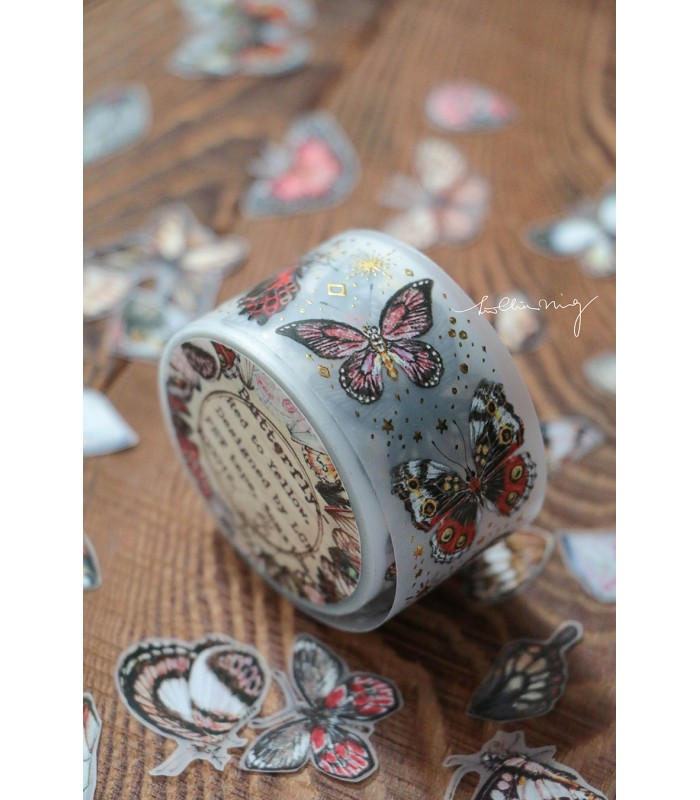 LCN - Butterfly - Red to Yellow Matte PET Tape