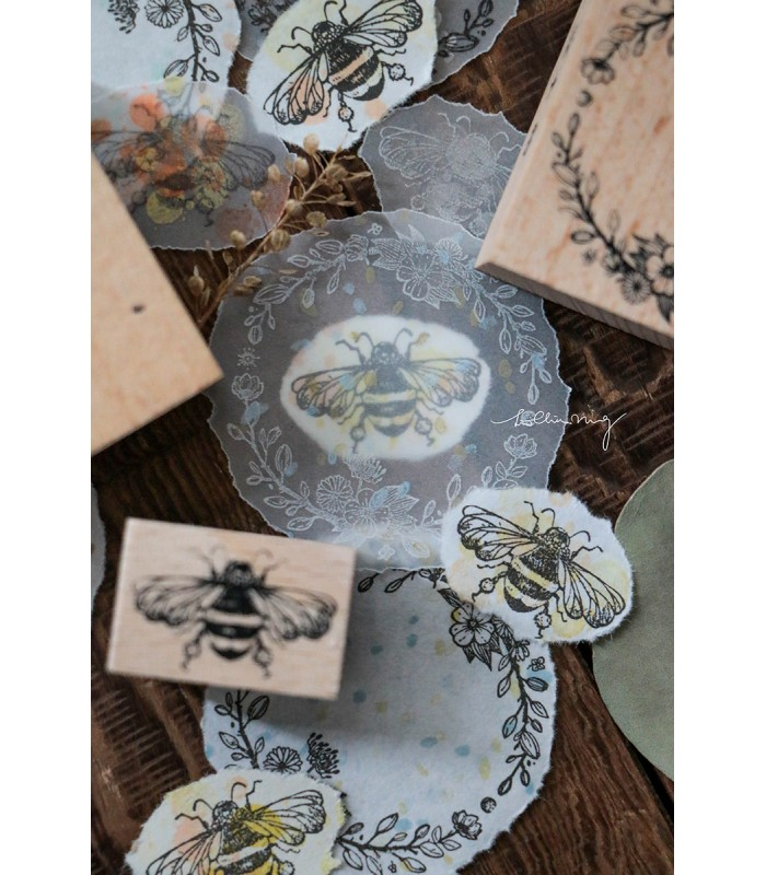 LCN - Floral Buzz Rubber Stamp Set