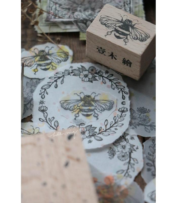 LCN - Floral Buzz Rubber Stamp Set -leimasinsetti