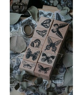 LCN - Butterfly Rubber Stamp Set