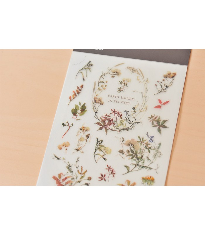 MU - Print-On Stickers 1063, Earth Laughs in Flowers