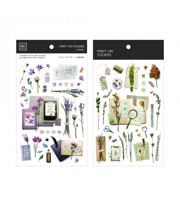 MU - Print-On Stickers 1140, Vintage Palette Purple & Green
