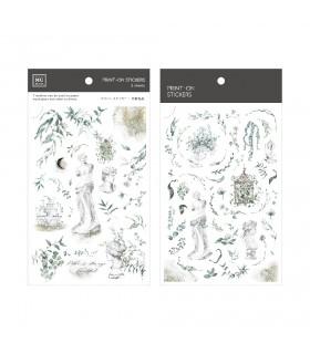 MU - Print-On Stickers 1146, Garden Statues