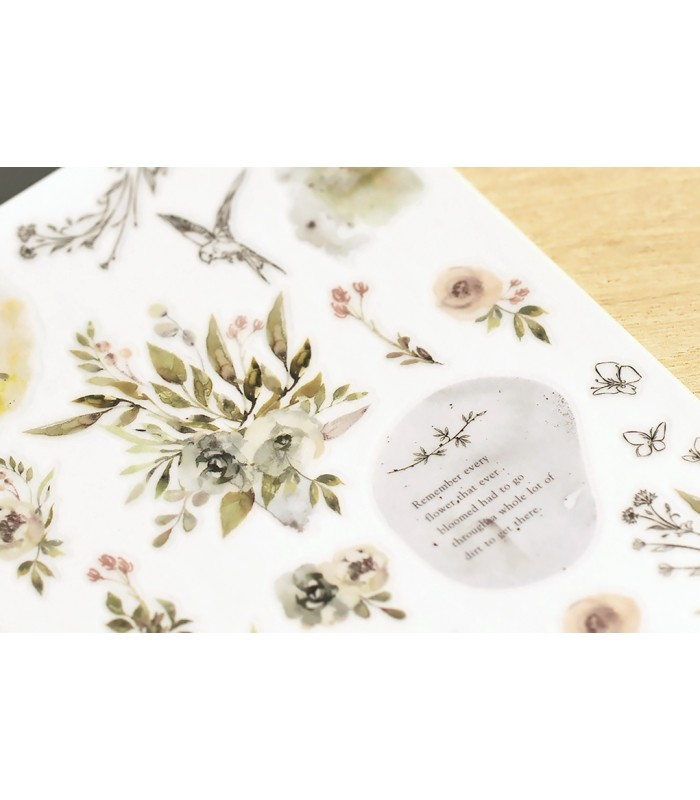 MU - Print-On Stickers 1150, Remember Flowers
