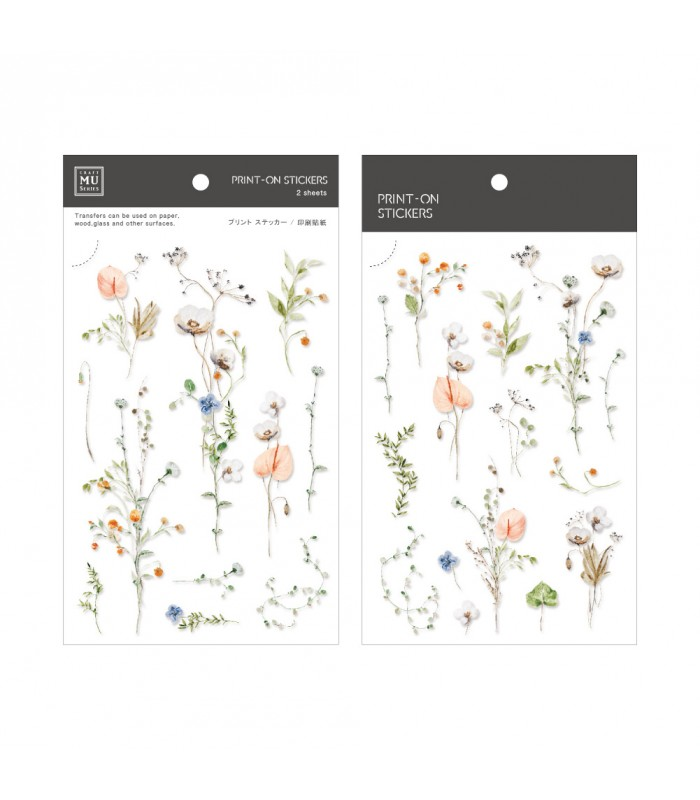 MU - Print-On Stickers 1160, Sunshine Flowers