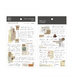 MU - Print-On Stickers 1162, Vintage Script Layers