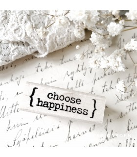 CLP Choose Happiness Rubber Stamp