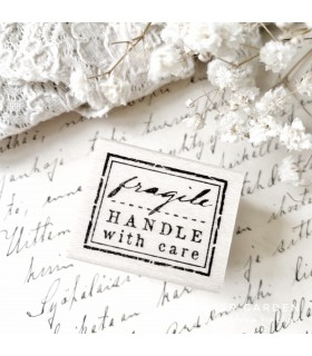 CLP Fragile Handle With Care Rubber Stamp