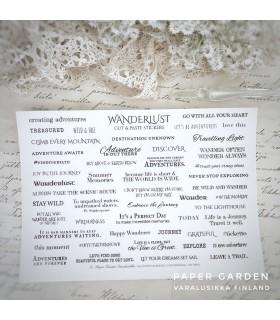 PG Wanderlust Cut & Paste Sticker Sheet