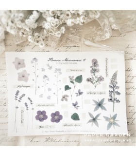 PG Flower Memories 2. Cut & Paste -tarra-arkki