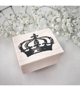 Crown Large Rubber Stamp
