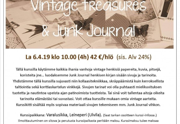 Jehkotar Workshop: Old Memories, Vintage Treasures and Junk Journal