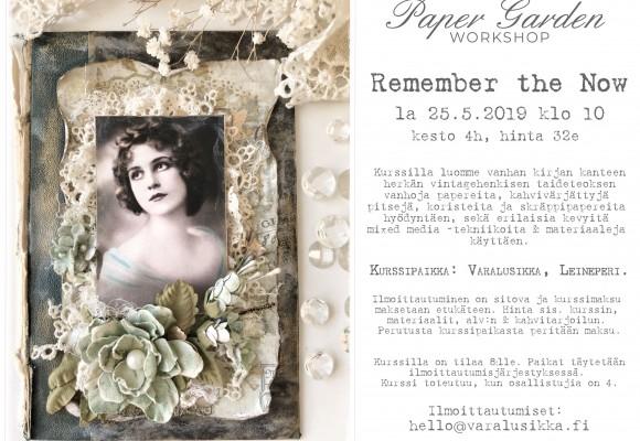 Paper Garden Workshop: Remember the Now