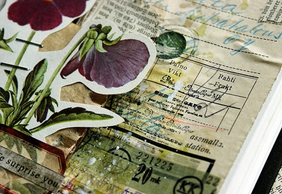 DT Varalusikka: Step by Step - Let Life Surprise You Journal Page by Paperiliitin
