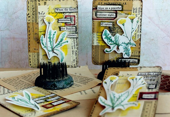 DT Varalusikka: Flower ATCs by Paperiliitin
