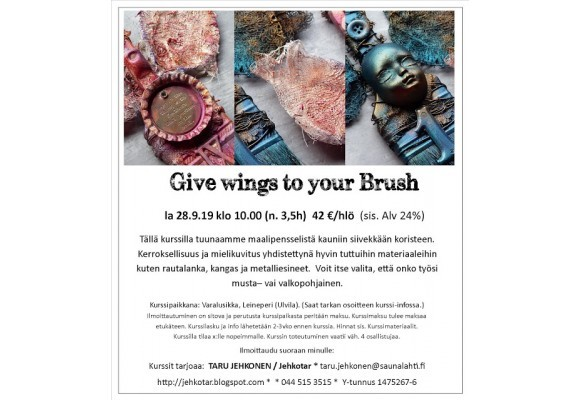 Jehkottaren kurssi: Give Wings to Your Brush