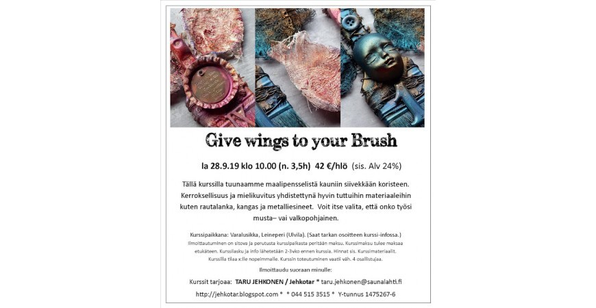 Jehkotar Workshop: Give Wings to Your Brush